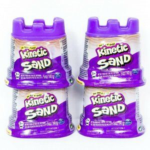 Kinetic Sand Purple 4 Container Pack New Sandcastl